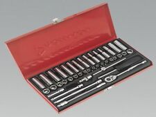 Sealey Socket Set 41pc 1/4sq Drive 6pt WallDrive - DuoMetric AK690 Premier HA