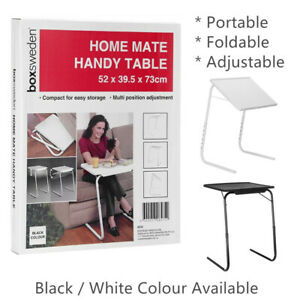 Adjustable TV Tray Table Foldable Laptop Couch Bed Portable Dinner Desk Mate