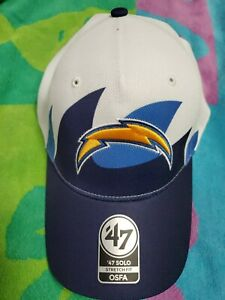 '47 Brand Solo Stretch Fit WAVE LA CHARGERS Football NFL Hat Cap-OSFA NEW