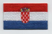 Embroidered CROATIA Flag Iron on Sew on Patch Badge HIGH QUALITY APPLIQUE