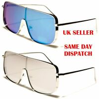 Shield Square Oversized Pilot Designer Mens Womens Sunglasses 100%UV400 12047
