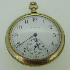 Antique 1910 Elgin Masonic Case Grade 303 Model 3 12s 7J Gold Filled Pocket Watc