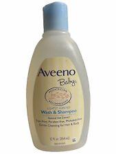 Aveeno baby wash & shampoo Lightly Scented 12oz Tear-free Paraben-free Gentle