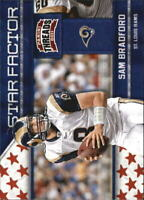 2011 Panini Threads Star Factor NFL Football #23 Sam Bradford St. Louis Rams