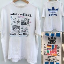 Vintage adidas CYSA Soccer World State Cup 1992 T-Shirt XL 90s Made In USA 1990s