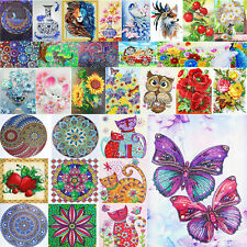 5D Diy Flower Bird Full Drill Diamond Painting Home Wall Picture Crafts Decor Us