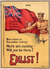 WW1 RECRUITING POSTER NEW A4 PRINT CANADIAN ARMY NEW NAMES IN HISTORY CANADA