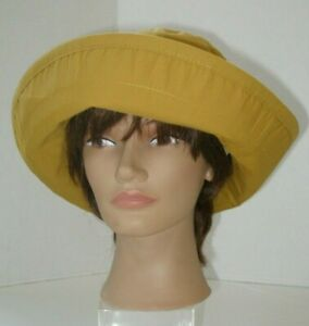 GAP Women's Hat Mustard Yellow Cotton Size Medium to Large NWT