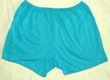 NEW Comfort Choice Turquoise Boyshorts Panties Plus Size 14 100% Cotton