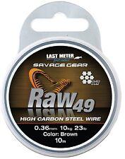 1,49EUR//m Flexonit Stahlvorfach Angeln Meterware 1x7 4m 0,54mm 28,0kg