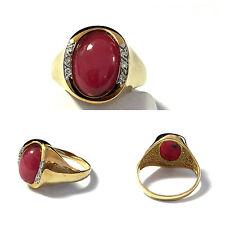 Ovale Echte Edelstein-Ringe im Solitär mit Akzentsetzung-Stil aus Gelbgold
