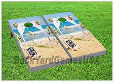 VINYL WRAPS Cornhole Boards DECALS Wedding Beach Sand Bag Toss Game Stickers 223
