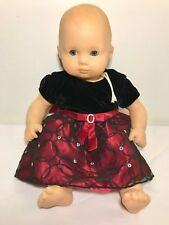 2014 American Girl Bitty Baby Doll Pleasant Company Blonde Hair Blue Eyes Dress