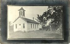 """""""This Is Where I Expect To Live Again This Year"""", School, Morrison IL RPPC 1908"""