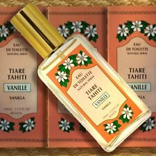 Monoi Tiki Tahiti Eau de Toilette Natural Spray VANILLE 100ml Tahiti-Vanille