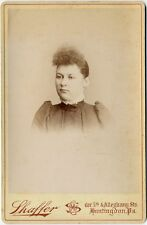 LADY IN HIGH COLLAR DRESS SHAFFER HUNTINGDON PA CABINET PHOTO