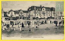 cpa 44 - PORNICHET L'HÔTEL de la PLAGE Enfants Bords de Mer Cabines Baigneurs