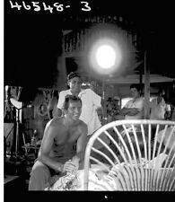 RON ELY ON SET FILMING TARZAN RARE ORIGINAL 1967 NBC TV PHOTO NEGATIVE
