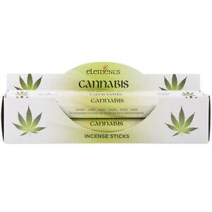 Elements Cannabis Incense Joss sticks. 20 sticks, 1 pack.