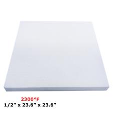 "1/2"" Refractory Ceramic Fiber Insulation Board 2300F 23.6"" x 23.6"""