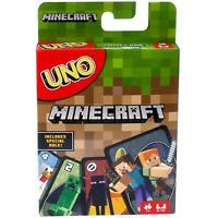 UNO Minecraft Card Game Authentic Mattel UK Family Card Game