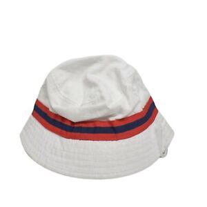 NWT Gymboree Hat Kids Size 12-24 Months White Red Blue Stripe