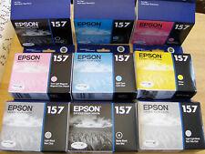 2017/16 9 GENUINE epson 157 ink cartridges R3000 Printer Full Set T1571-T1579