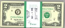 1995 $2.00 Federal Reserve 100 w/ BEP  Band Choice to Gem Consecutive Numbers