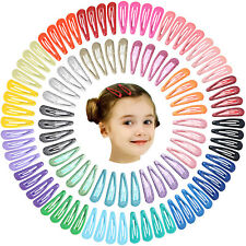 100pcs 2 Inch Hair Clips No Slip Metal Hair Clips Snap Barrettes for Baby Girls