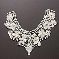 Cream Pearl Beaded  Lace Bodice Applique Neckline Motif Dance Tutu Costume