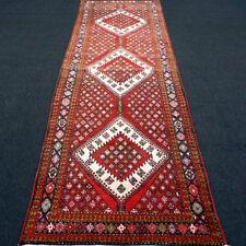 Alter Orient Teppich 340 x 110 cm Perserteppich Läufer Handgeknüpft Rug Runner