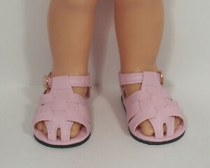 LT PINK Fisherman Sandals Hard Sole Doll Shoes For Chatty Cathy (Debs*)