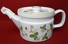 "WEDGWOOD china WILD STRAWBERRY Earthenware pattern Teapot - 4-1/4"""