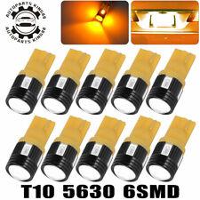 10x Amber Yellow T10 5630 Led High Power Backup Reserve Turn Signal Light Bulbs