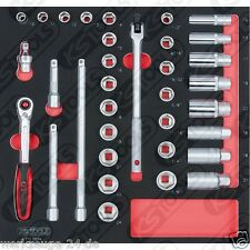 """KS Tools BBA 3/8 """" INSIEME zoccolo, 34-tlg. in 2/3 systemeinlage 712.0034"""
