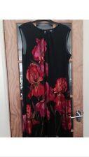 Wallis black floral dress size M