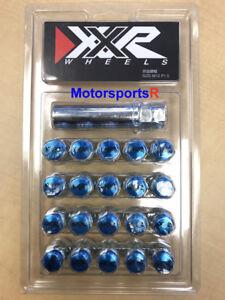 XXR Tuner Lugs 20 BLUE Conical Nuts 12 x 1.5 mm Wheels Rims Honda Mazda Scion