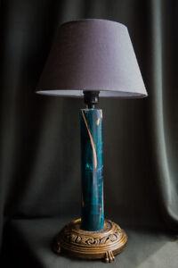 """Unique desk lamp """"Green forest"""""""