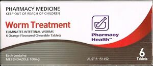 =>PRICE SMASH Pharmacy health worm Tablets (= Ver-Mox or Combantrin1 ) 6 tablets