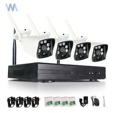 4CH Wireless NVR 720P HD IP Network IR Outdoor CCTV Home Security Camera System