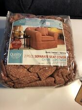 Two Piece Separate Seat Cover Chair Slipcover