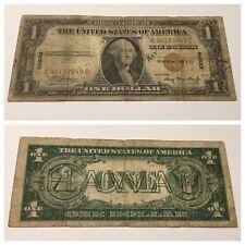 VINTAGE $1 HAWAII BROWN SEAL C-C BLOCK ONE DOLLAR 1935-A SILVER CERTIFICATE BILL