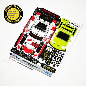 CUSTOM sticker for LEGO 75888 Porsche 911 RSR and Turbo 3.0 top quality sticker.