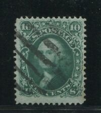 1868 US Stamp #96 10c Very Thin Paper Used F/VF Grid Cancel Catalogue Value $250