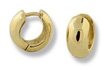 Huggies Tiny Round Hinged Hoop Earrings 10k Yellow Gold 12mm