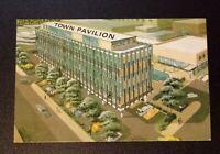 Printed Postcard - Macon Georgia - Town Pavilion Motel Artist Rendering