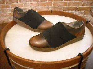 Rockadelic Deer Stags Garage Brown Leather Slip on Oxford Men's New