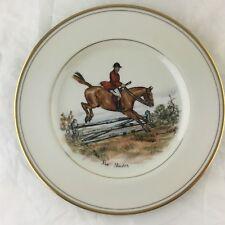 "ABERCROMBIE FITCH VINTAGE EQUESTRIAN HORSE ""THE MASTER"" SALAD PLATE VOSMANSKY"