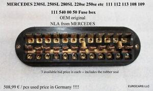 MERCEDES 230SL - 280SL FUSE BOX OEM 111 540 00 50 W111 W112 W113 W108 W109