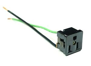Kulka AC Power Outlet 15A 125VAC 3-Prong Socket With Wires Snap-In Panel USA